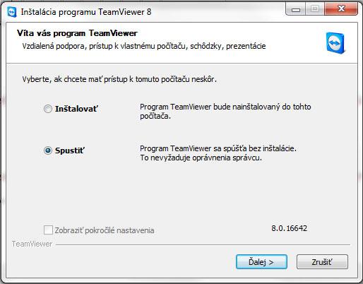 TeamViewer inštalácie