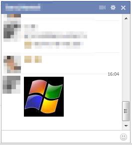 Facebook obrázok v chate