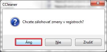 Opraviť registre