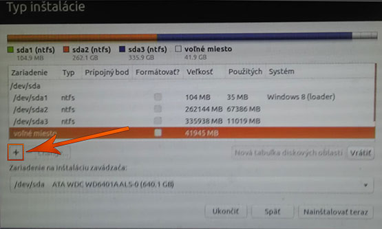 Inštalácia ubuntu